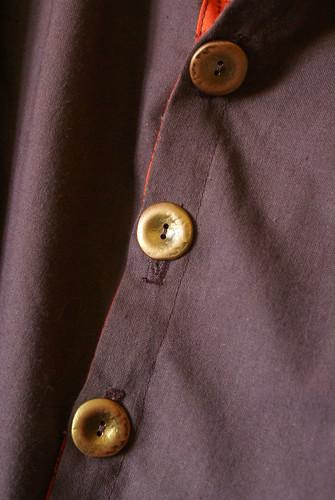 blouse détail boutonnières