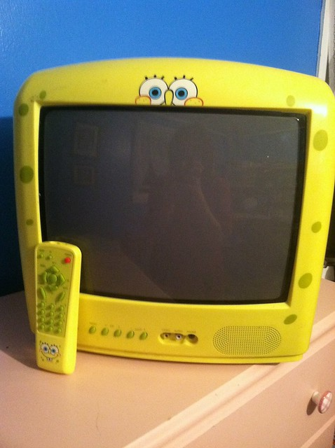 Emphasizing the color yellow with a Spongebob TV   Flickr - Photo ... Yellow Spongebob