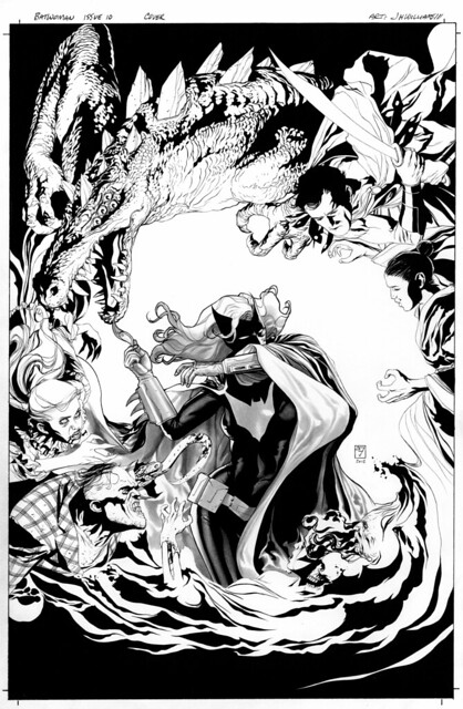 Batwoman 10-cover black and white