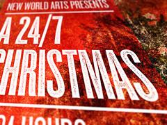 New World Arts - A 24/7 Christmas poster