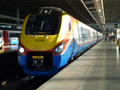 222003 at London St Pancras before departing on 1F50
