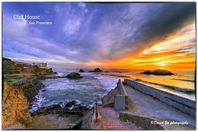 Cliff House San Francisco sunset color moment
