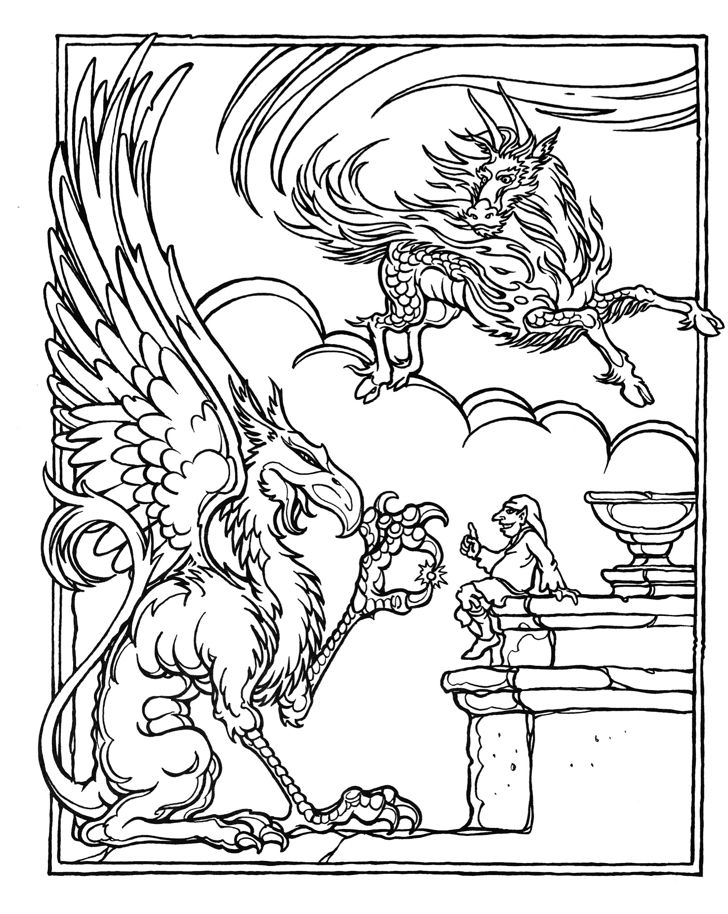 dragon gets by coloring pages - photo#26