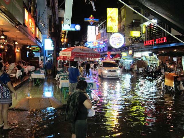 flooded khao san