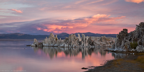 Mono Lake with Tufa Towers at Sunrise 16Oct2011.