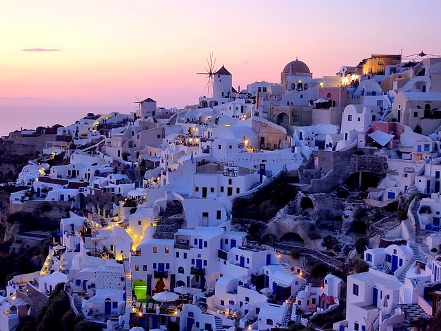 Greece : A view on Oia, Santorini (Greece)