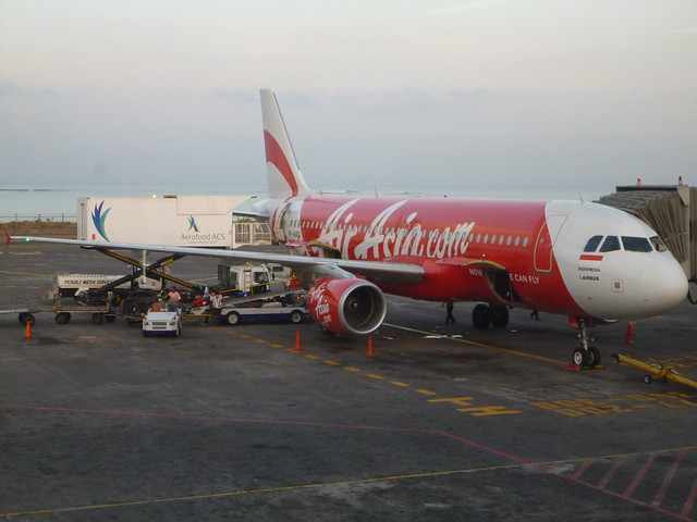 Sunrise during Air Asia flight to Bali Indonesia from Darwin Northern Territory