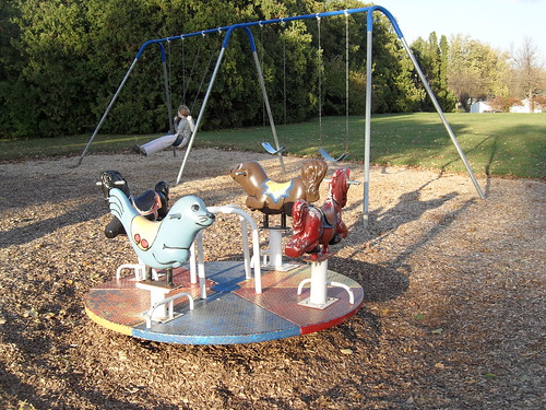Playground equipment like this is great for encouraging interaction with peers