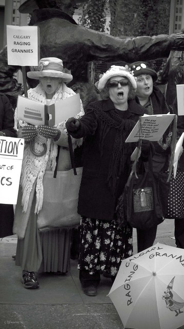 Occupy Calgary - raging grannies