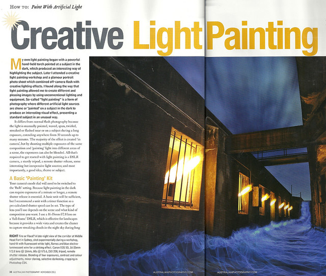 Feature Article in Australian Photography Magazine - November, 2011