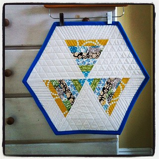 Finished my post #sewingsummit mini quilt swap.