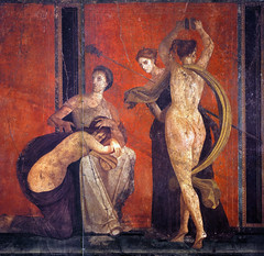 Female Initiates, Flagellation and a dancer, Pompeii, Villa of Mysteries, photographer unknown