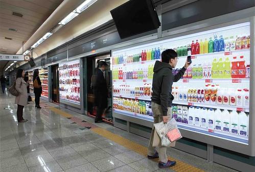 Tienda Virtual Tesco Homeplus en el Metro de Corea del Sur