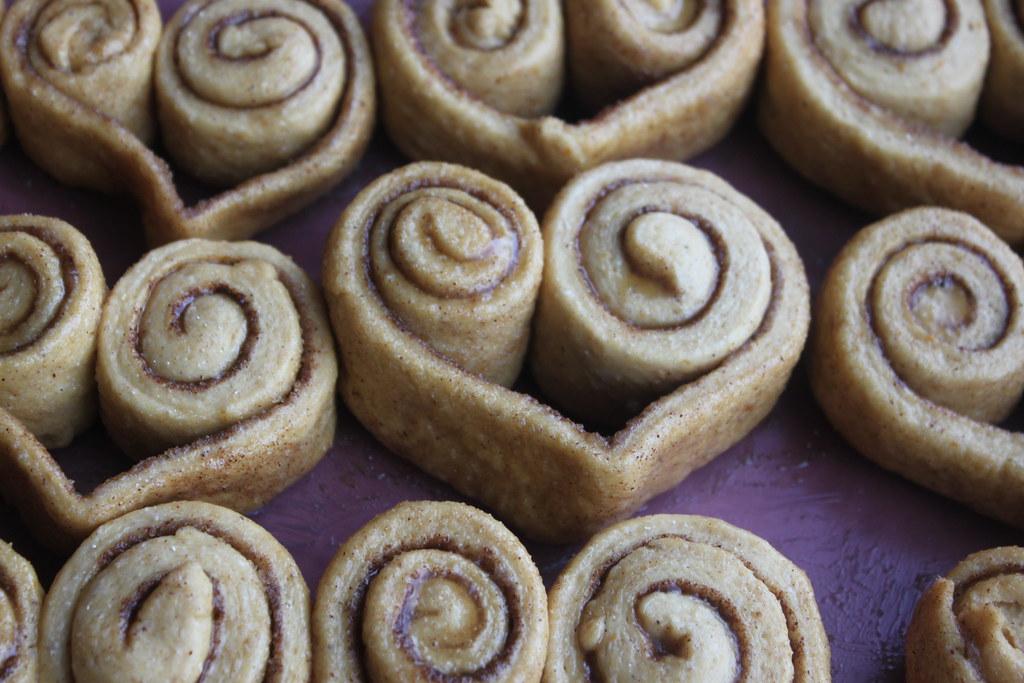 Heart Cinnamon Roll Closeup 1