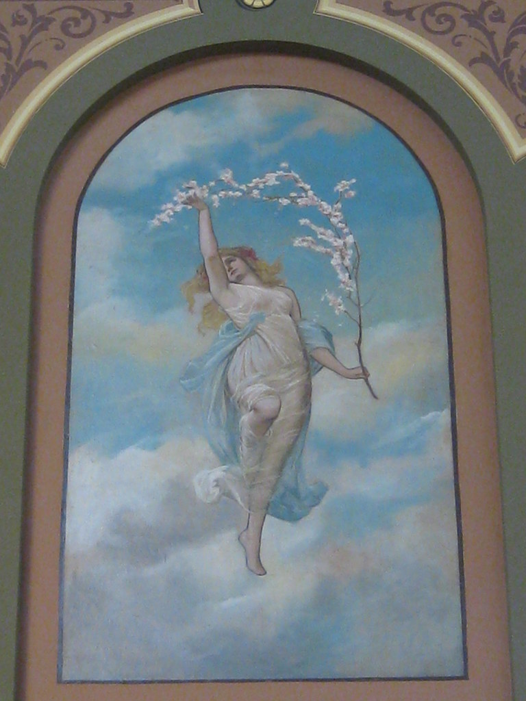 "Detail of the Sylph of ""Spring"" in the Royal Exhibition Building - Melbourne"
