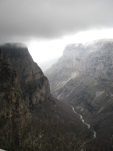 canyon gorge zagoria vikos oxya