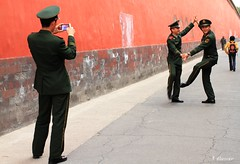 Army Boys Caught having a bit of a dance in Beijing