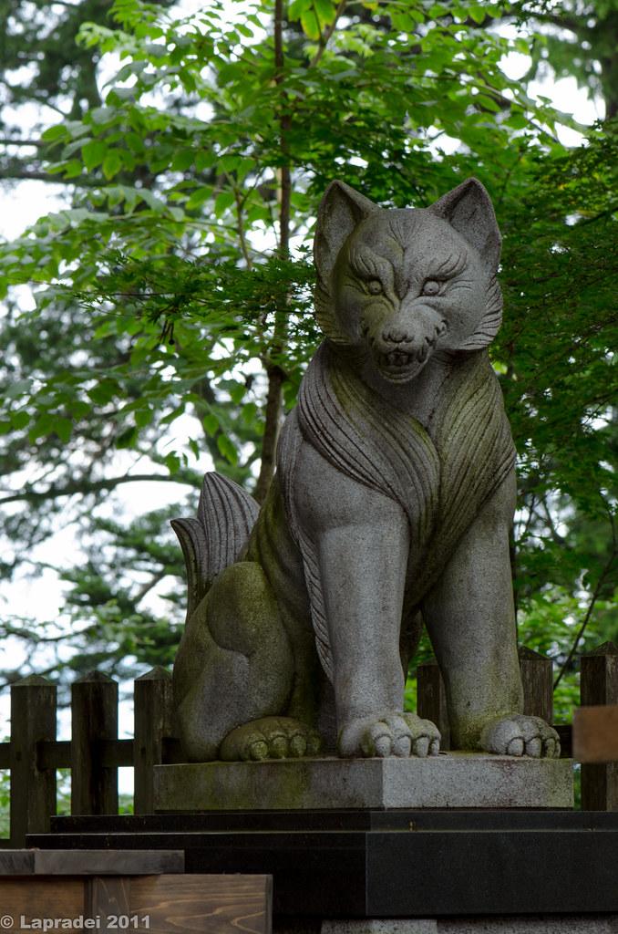 20110806 武蔵御嶽神社の狛犬 2