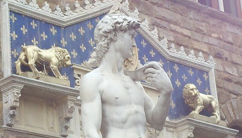 David Reproduction in front of the Vecchio