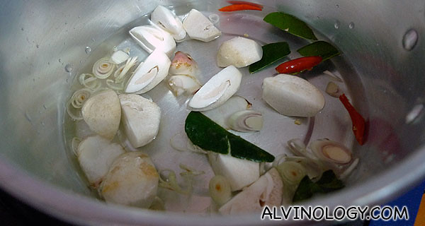 The first dish we learn to cook was Tom Yam soup