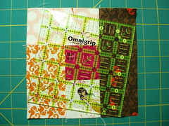 Wonky Log Cabin Block - step 5