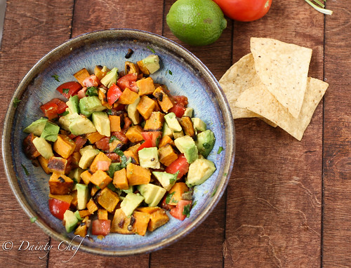 Roasted Sweet Potato Salsa | Dainty Chef