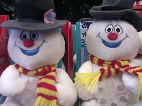 Snowmen at Home Depot in DC, November 20, 2011