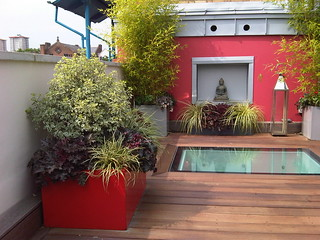 Contemporary London roof terrace