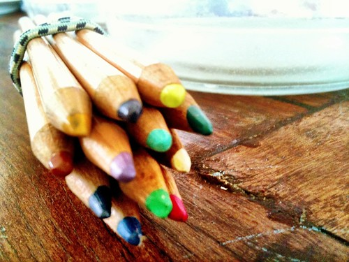 Coloured pencils to go in caravan