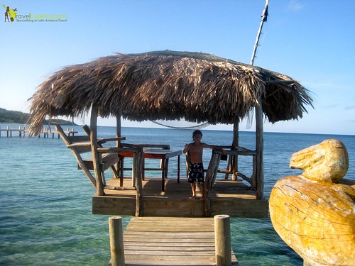 Private Dock and Swimming in the Caribbean Sea, Roatan Honduras
