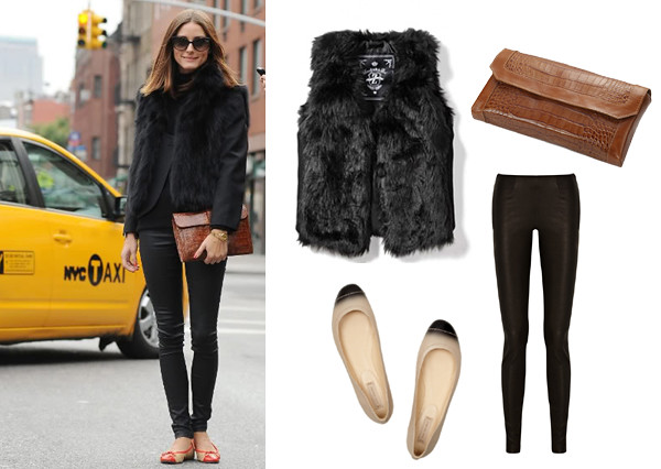 olivia_palermo_black_fur_brown_clutch
