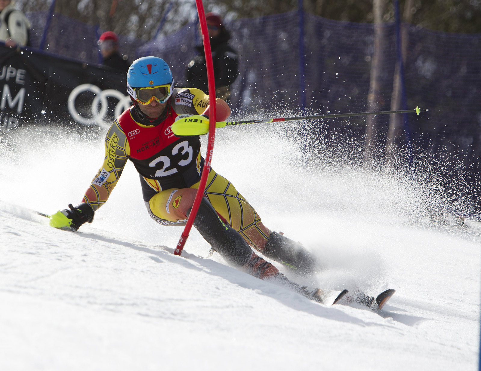 Mike Janyk during the Audi Nor-Am Cup slalom in Mont-Sainte-Anne, Que.