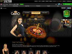 Betvictor Live Casino Lobby