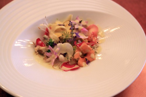 "Town House - Chilhowie, VA - August 2011 - ""Flowers"" with Artichoke, Leek Emulsion"