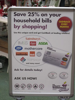 Utility Warehouse Cashback Card Poster