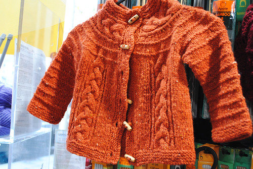 Rossbeg Girl's Cabled Yoke Cardigan