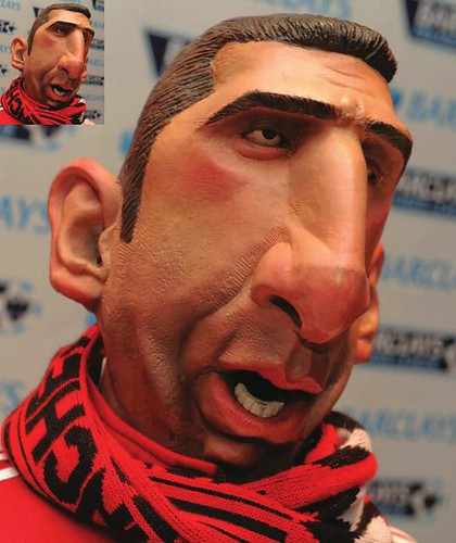 Spitting Image puppet of Eric Cantona at the National Football Museum in Manchester