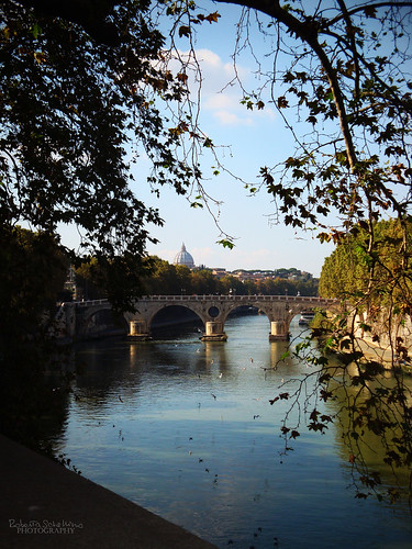 autumn trees italy panorama rome roma river tevere romantic