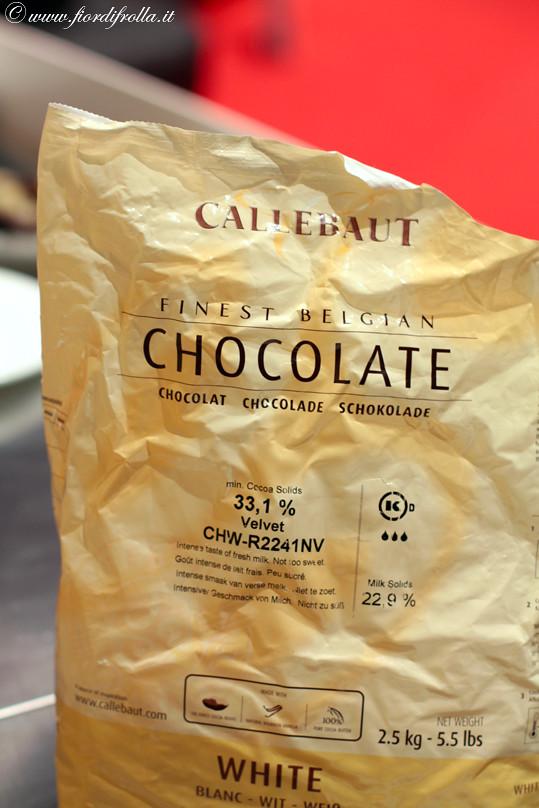Gli ingredienti: cioccolato bianco Callebaut
