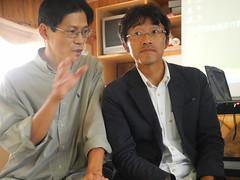 賴青松(左)與半農半X塩見直紀(右)相見歡