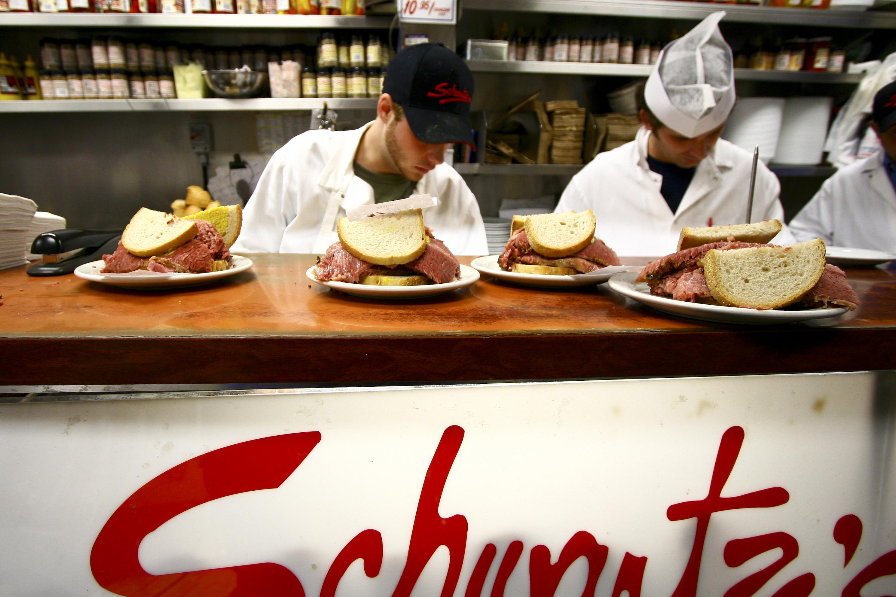 Schwartz's smocked meat sandwiches