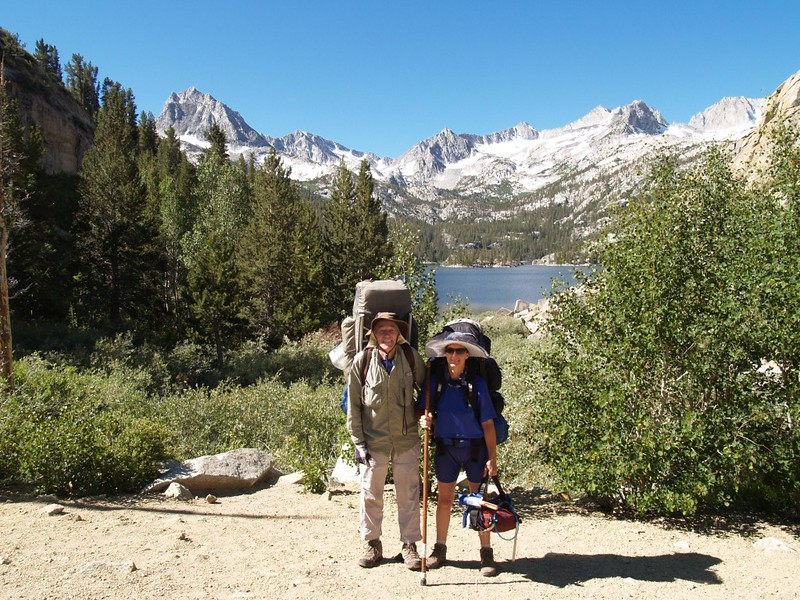 Bishop Pass Trail trailhead at South Lake