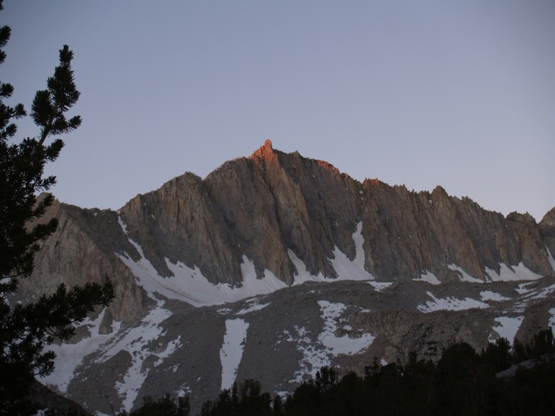 Bishop Pass Trail - Mount Goode Lit by the Dawn
