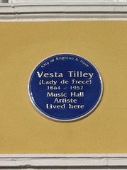 Photo of Vesta Tilley blue plaque
