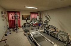 exercise machine, room, gym,