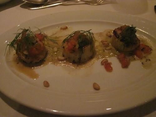 My appetizer: scallops