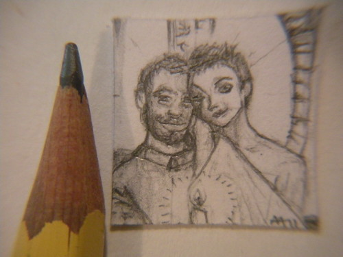 mini wedding portrait