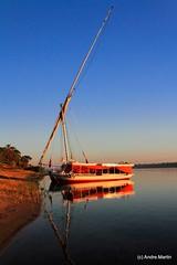 En felouque sur le Nil (Egypte)