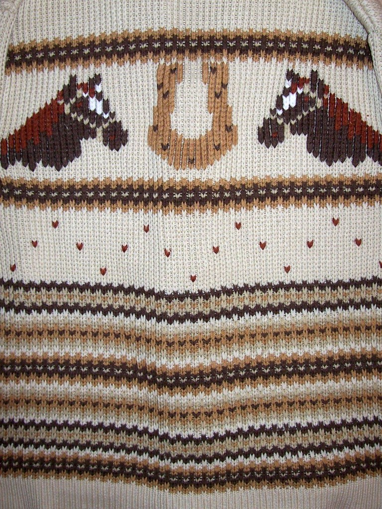 sweater back detail