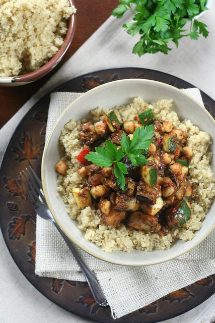 Quick Ratatouille on Quinoa • The Healthy Foodie